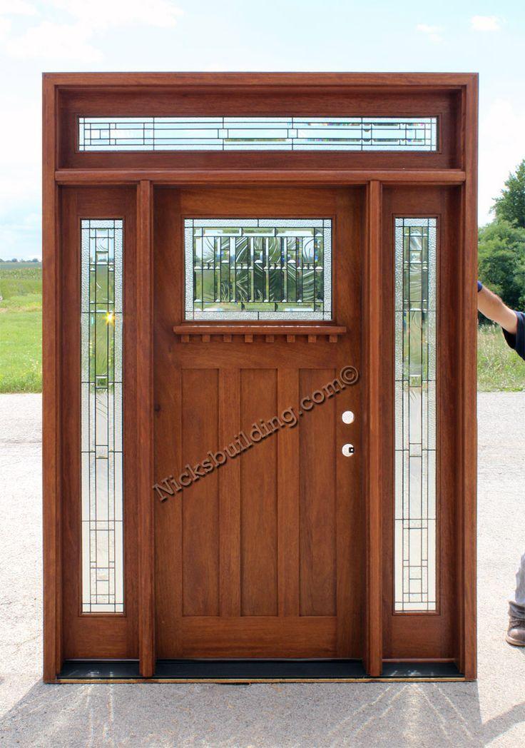 Craftsman Door Rectangular Transom Mission Style Exterior Door More Wood Doors And Www