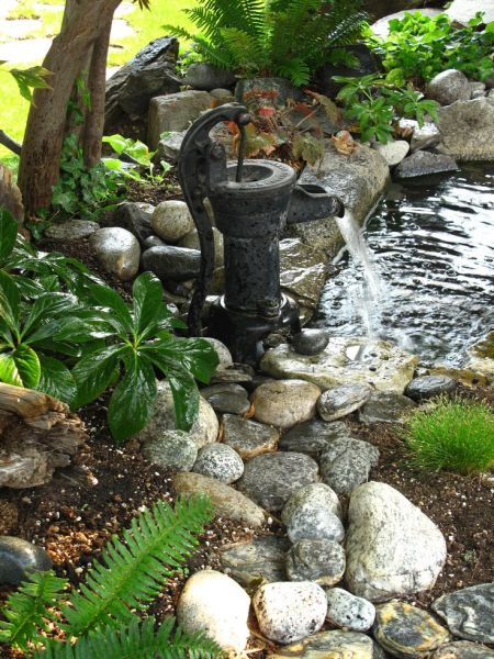 outdoor water fountain garden pond 25+ best ideas about Old water pumps on Pinterest | House