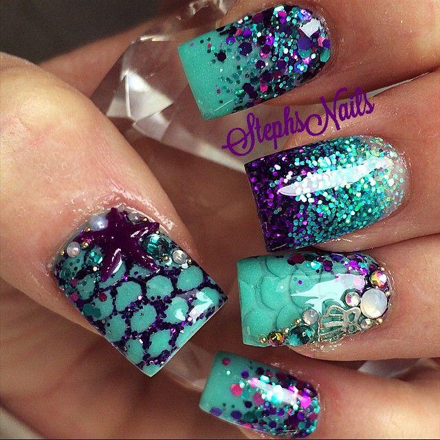 Stephanie Rochester @_stephsnails_ #mermaid#nails#ik…Instagram photo | Websta (Webstagram)
