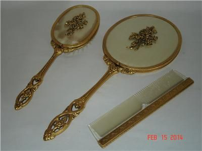 Images Of Antique Mirrors And Combs Sets Details About