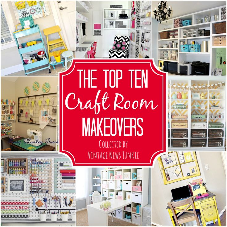 Awesome Inspiration & Organization Ideas for a Craft Room #organization #craftro