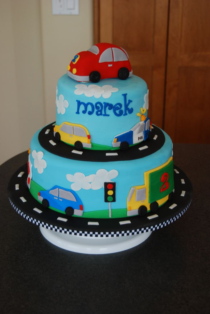 Vehicles Birthday Cake Made For A Little Boy Who Loves