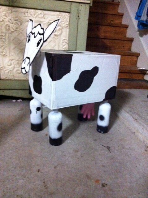 What Can You Do With An Empty Box 4 Plastic Bottles And A Latex Glove One Super Cute Cow