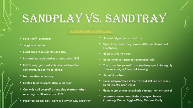 Sandtray And Sandplay Therapy Are Two Distinct Ways Of