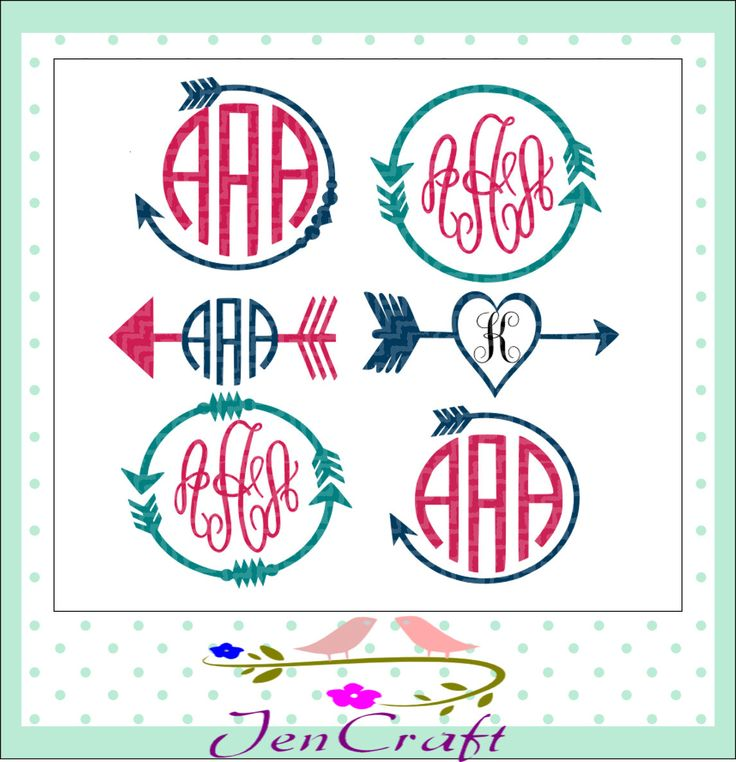Download Arrow Monogram Frames Svg, Patterned pocket monogram ...