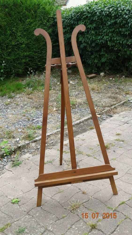 Chevalet De Peintre GRAND MODELE EN BOIS FRUITIER 19EME