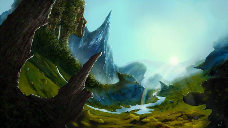 Pictures Of Fantasy Landscapes Fantasy Landscape Painting By Mantaskarciauskas Digital Art