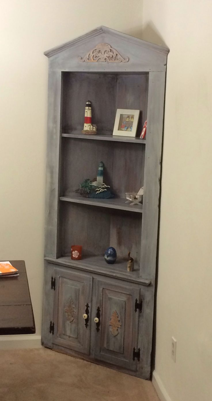 Corner Curio Cabinet That I Redid With A New Stain An