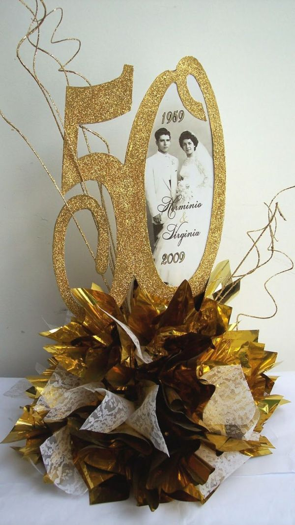 Designs by Ginny: 50th Anniversary Centerpiece   50 th ...