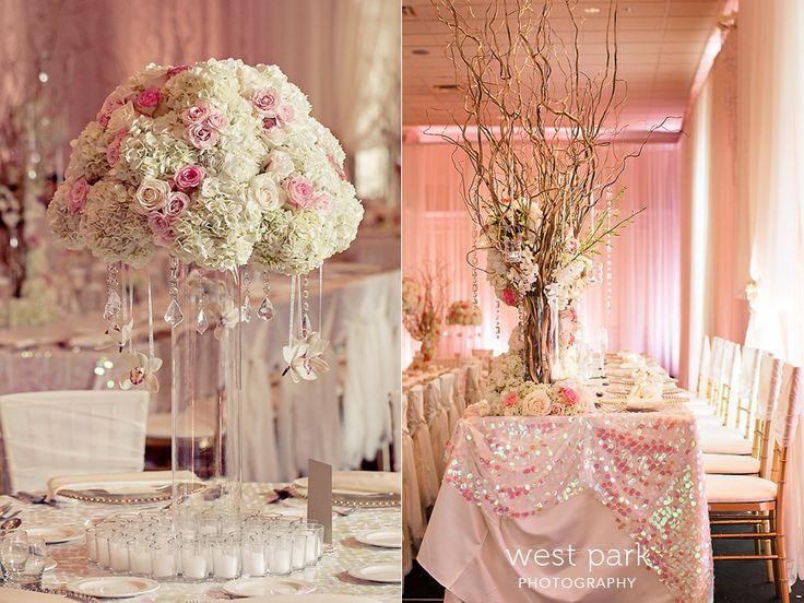 Elegant Pink Detroit Wedding Reception 05 Pink & Gold