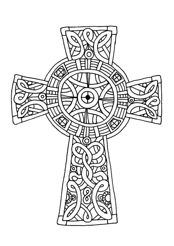 celtic cross  amazing celtic cross coloring pages  a
