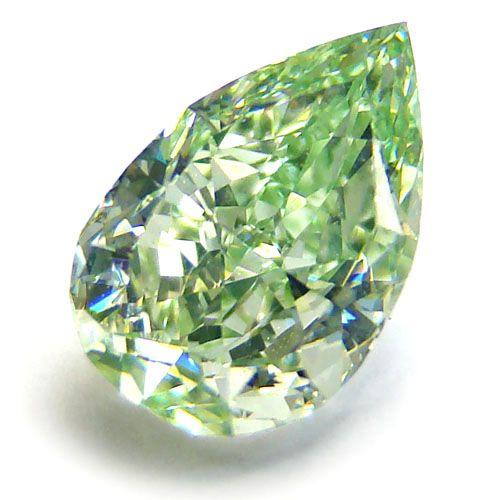 A rare green diamond