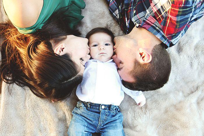 newborn family photos golden field holiday season