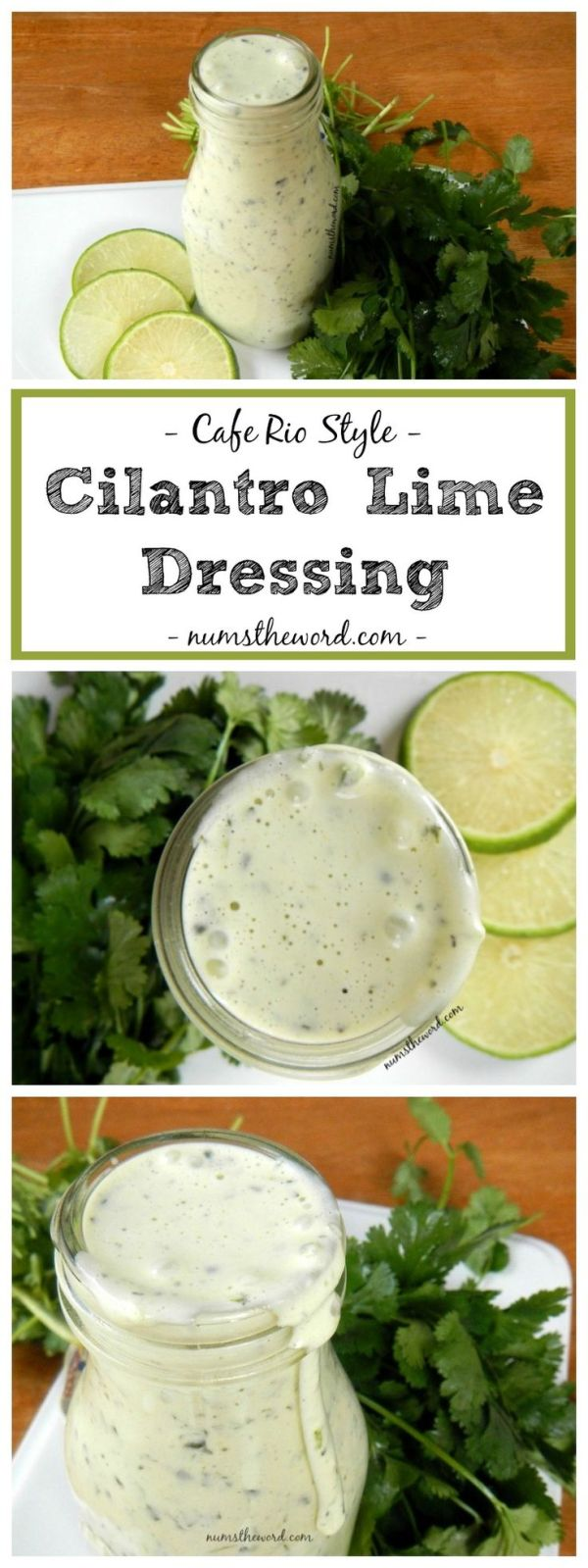 Cafe Rio Style Cilantro Lime Dressing Perfect on top of a