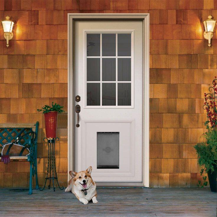 Jeld Wen 9 Lite Primed White Steel Prehung Front Door With