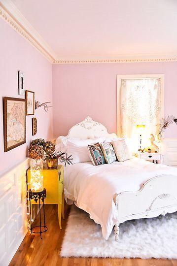 Image Via We Heart It Cute Lights Pink Room Smallbedroom