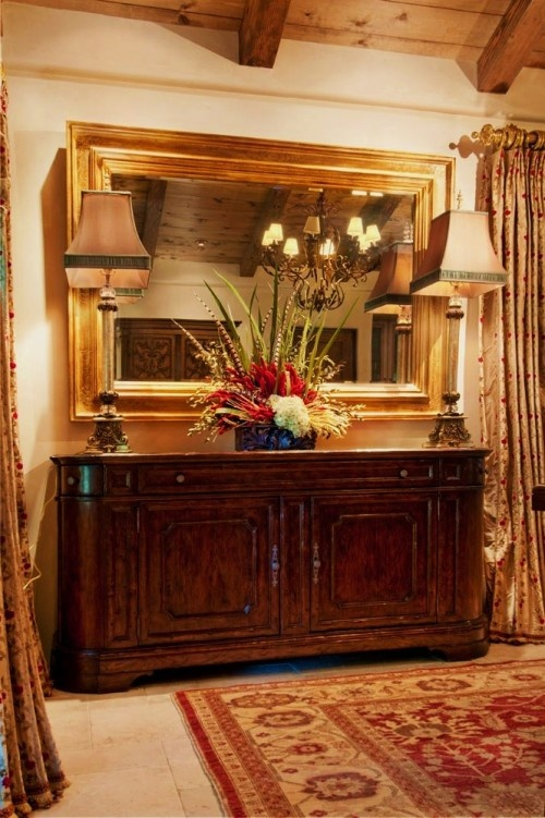 Large Mirror Over The Buffet Makes Me Think Mine Is Too Small Home Dining Rm Stairs Amp Halls