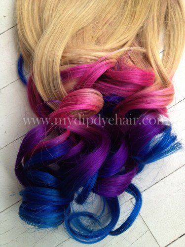Ombre HairTie Dye HairBlonde Hair ExtensionsPink Ombre
