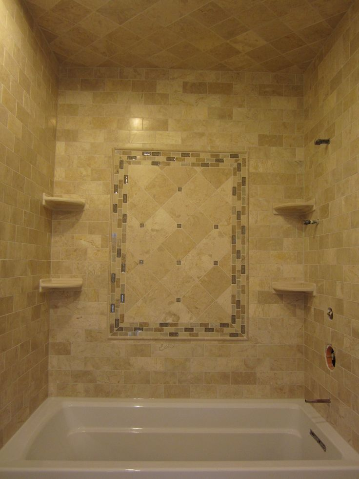 Travertine Subway Tiles And 6x6 With Sonoma Tile Accent