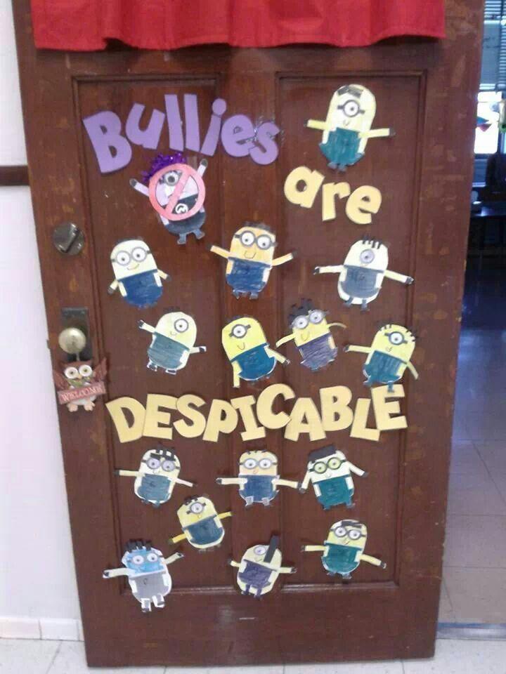 Anti bullies bulletin board ideas pinterest minions