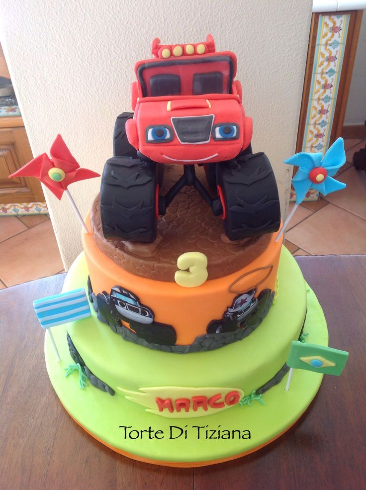 Cake Monster Truck Blaze Torta Blaze Pinterest