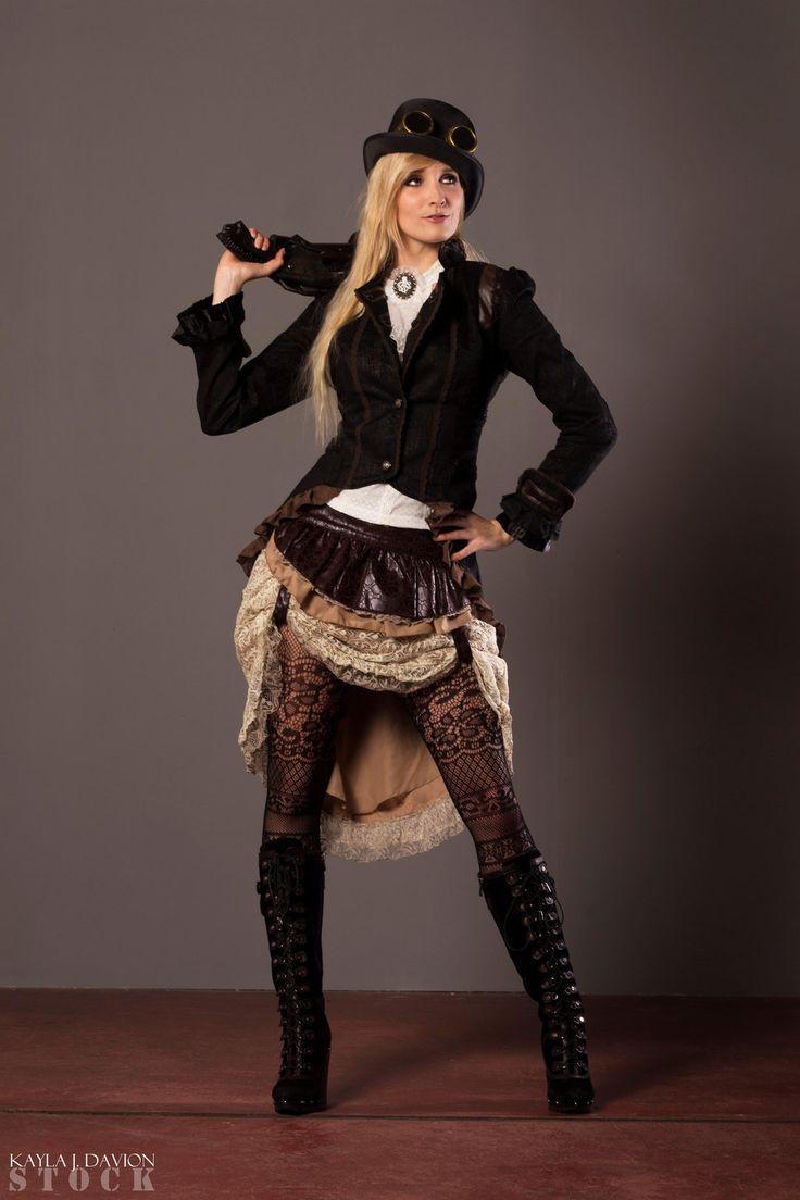 Steampunk STOCK I By PhelanDavion Female Cosplay Costume