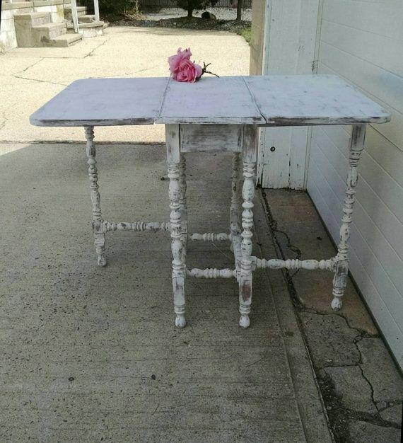 RESERVED Vintage Gate Leg TableVintage Drop Down Table