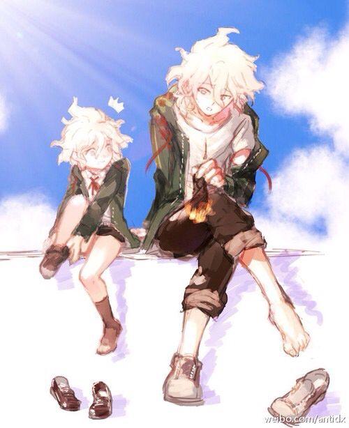 Wall scroll poster fabric painting for anime danganronpa mikan tsumiki 041. Omg Komaeda and little Komaeda are SOO cute | Danganronpa ...