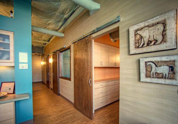 Sliding Doors Exposed Ceiling Wood Floors Piacenza