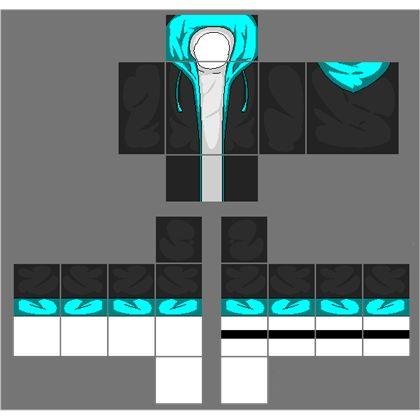 Black Jacket With Cyan Blue Hoodie A Image By 2otaku4lyfe