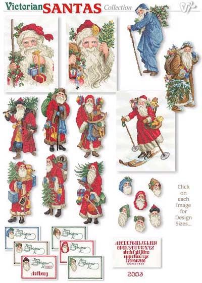 Vermillion Stitchery Victorian Santas Embroidery Designs