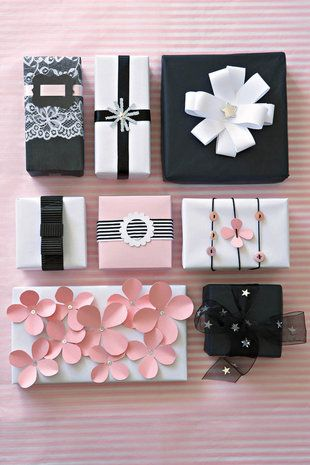 Ideas for wrapping presents...you know, for your favorite friends.: