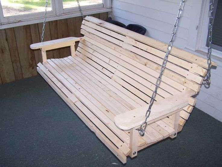 Wood Porch Swing Plan – Homemade porch swing that is easy to build—great plans with the sturdy frame inst.