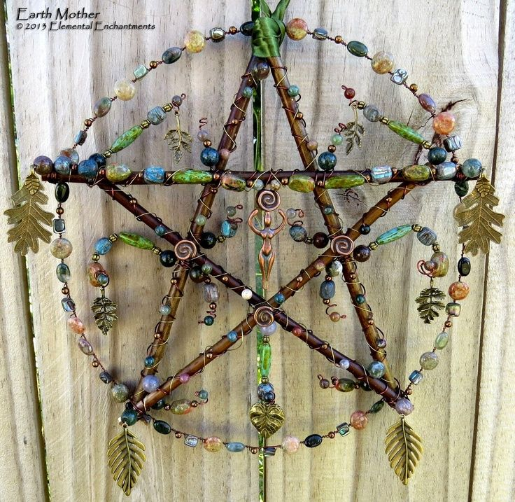 pagan crafts | Earth Mother, handcrafted pentacle from KM Fields Elemental … | Sp