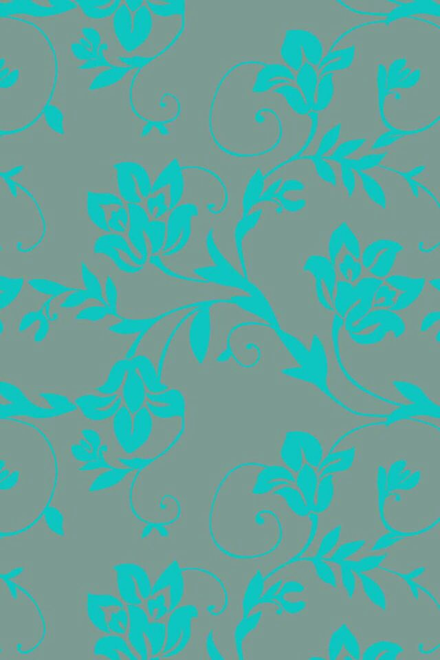 Estampa Floral Verde Gua Cinza Wallpapers Pinterest