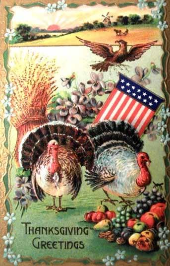 Vintage Thanksgiving Card Thanksgiving Graphics