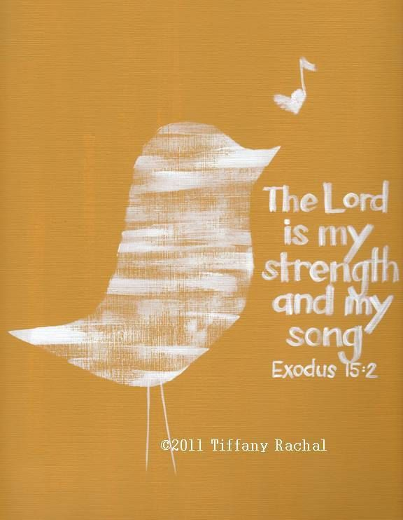 Scripture Art – Bible Verse Wall Art – The Lord is My Strength – MADE to ORDER -11×14 Acrylic Painting – Wrapped Canvas. $48.00,