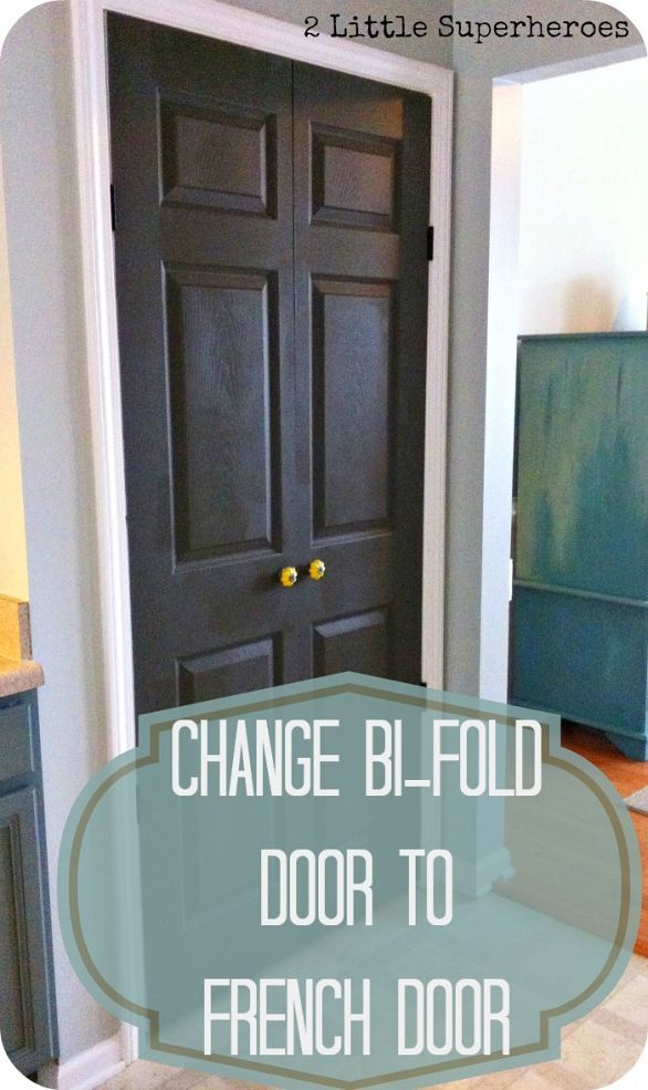 How to turn a bi-fold door into a double door  Wonder if I can do this to my laundry closet