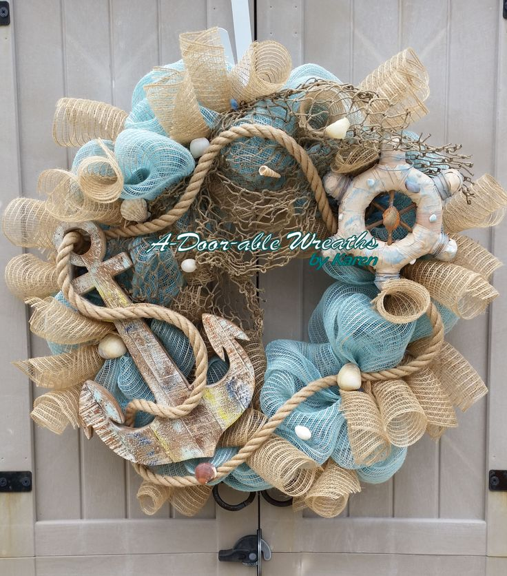 373 Best Wreaths Summer Beach Coastal Nautical
