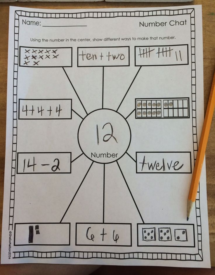 Number Sense FREEBIE!! Several versions included!! Directions: Using the number in the center (chosen by you or the student), the