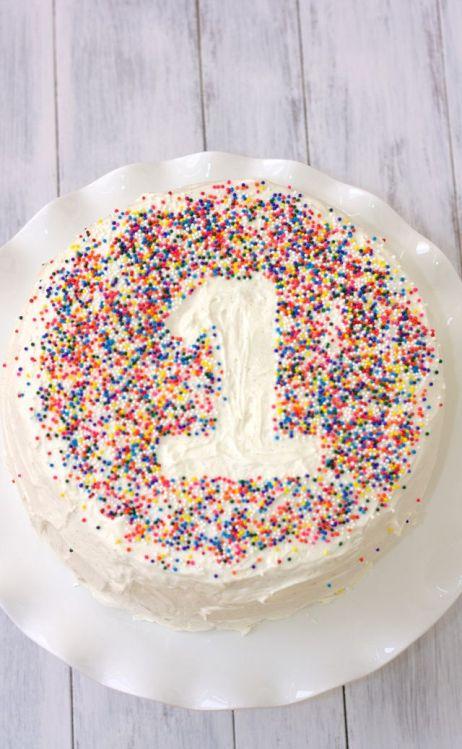 Easy Sprinkle number cake