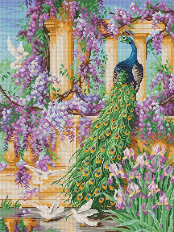 """Купить Схема для вышивки бисером """"Райский сад"""" с полной ..."""