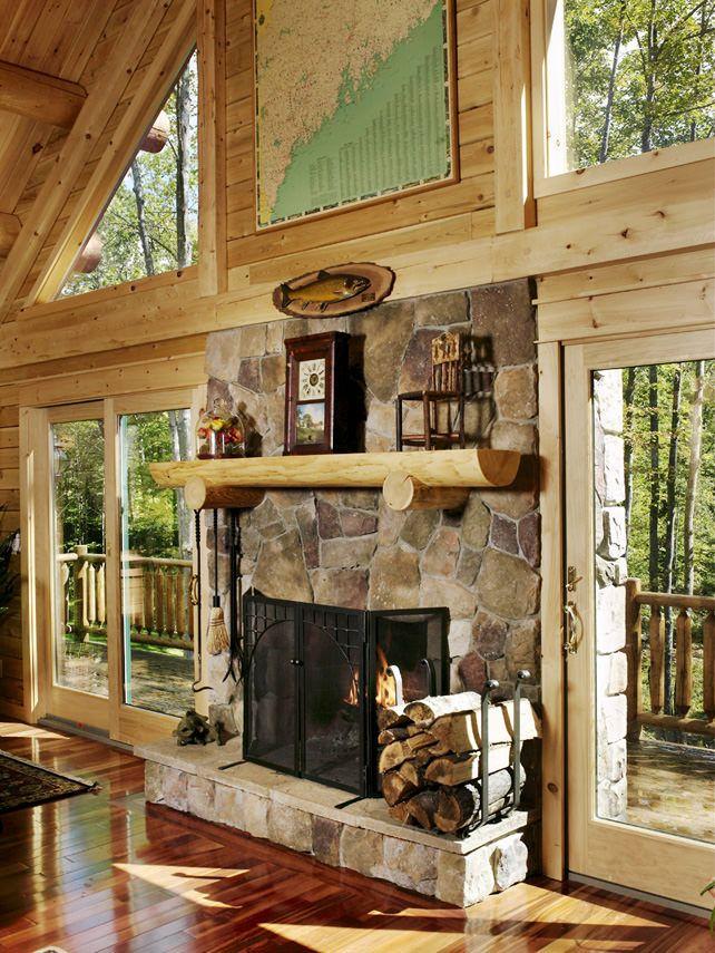 Best 25 Cabin Fireplace Ideas On Pinterest