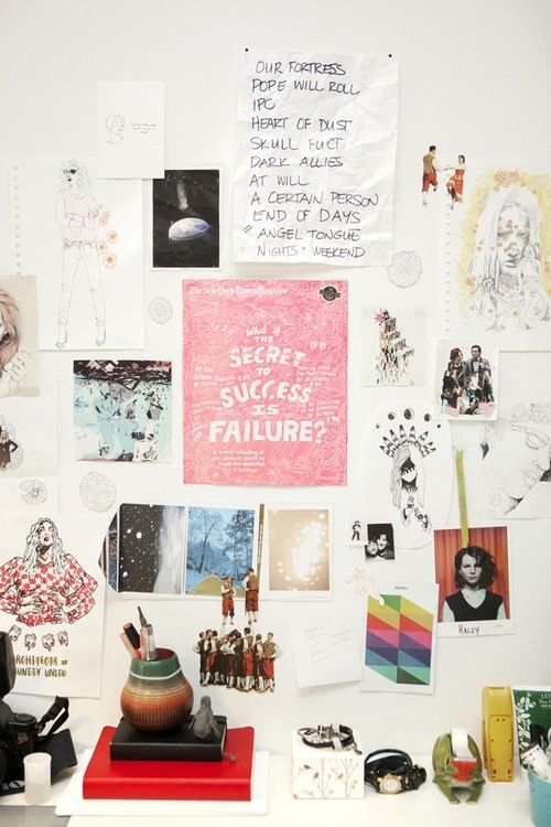 Inspiration Wall Above Desk