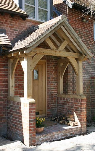 Oak Porch – Sawn Green Oak. Would really like a porch on the front of our house.