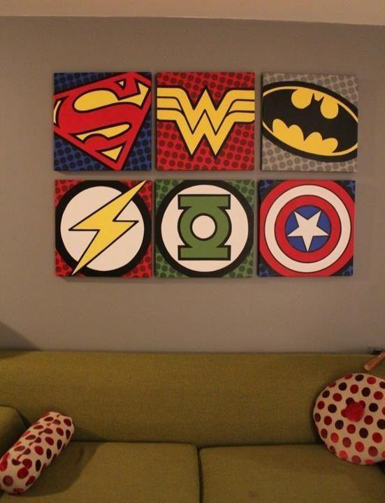Diy Super Hero Kids Bedroom
