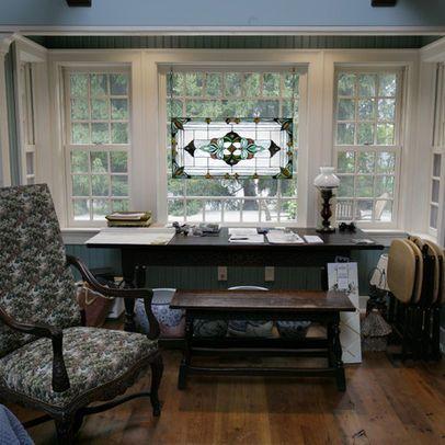 Home Office Bay Window Living Room Office Pinterest