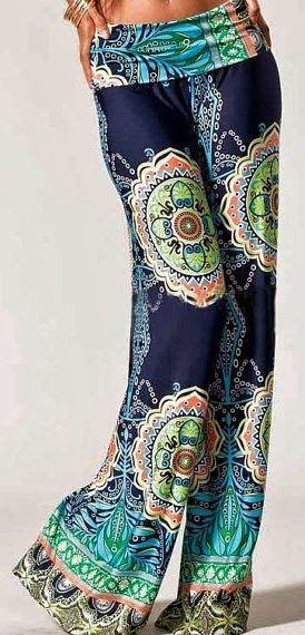 Wide leg tribal print palaz