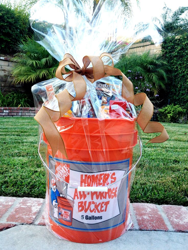 House Warming Gift Home Depot 5 Gallon Bucket