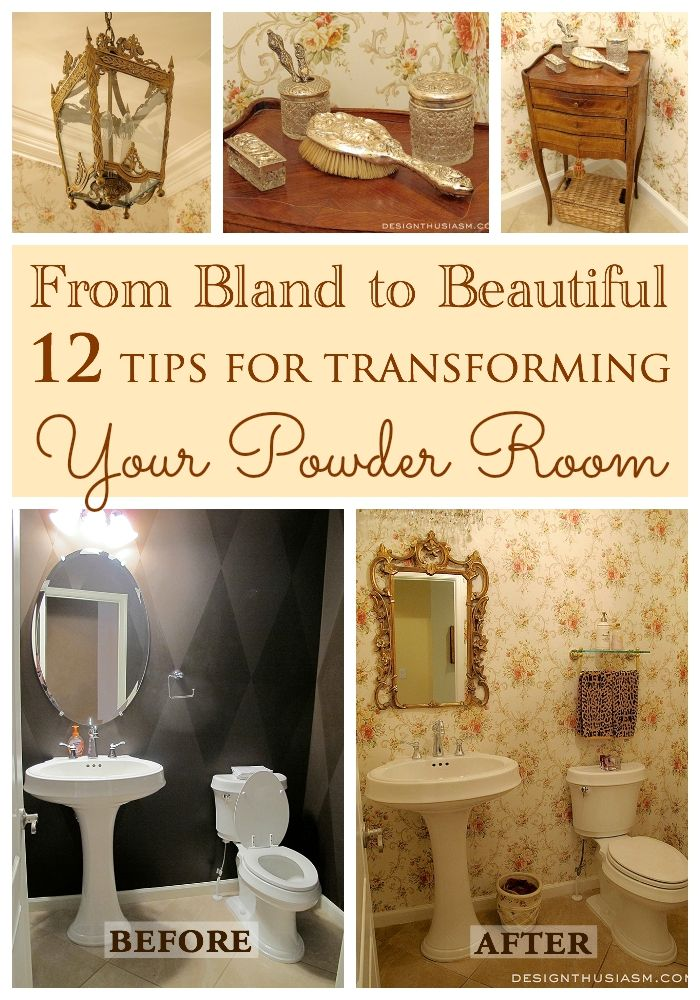 Transforming A Bland Powder Room Into A Lovely French